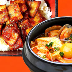 サムギョプサルドン丼+スンドウブチゲのイメージ