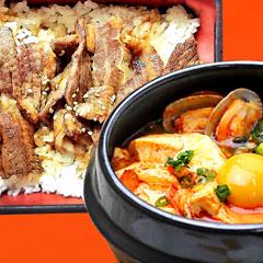 カルビ丼+スンドウブチゲのイメージ