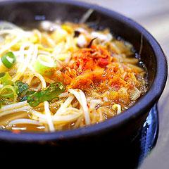 キムチ豆もやしスープのイメージ